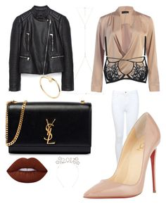"""""""New Years look #3"""" by boturovic-kristina on Polyvore featuring Yves Saint Laurent, Miss Selfridge, Christian Louboutin, ERTH, Piel Leather, Agent Provocateur, Lime Crime and Cartier"""