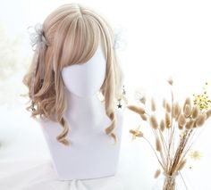 ★Elra★30cm +  Short roman rolls lolita wig Kawaii Hairstyles, Great Hairstyles, Wig Hairstyles, Manga Hair, Anime Hair, Cosplay Hair, Cosplay Wigs, Kawaii Wigs, Lolita Hair