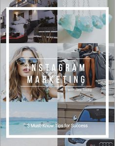 Not ready to invest? No problem. Take your pick of Alex's free Instagram tips and resources. Ebooks, Checklists, Private Groups and more.