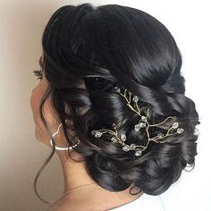 Pretty Bridal Updo Bridal Updo, Shiny Hair, I Love Fashion, Updos, Bridesmaid, Hair Styles, Pretty, Instagram Posts, Wedding Hairstyles