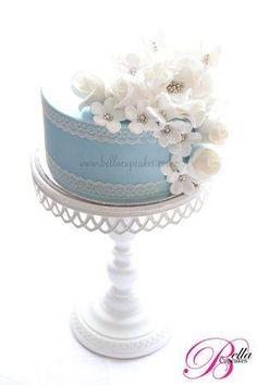 Chique do bolo #baking #cake #shabbychic por lil Neve Tigre