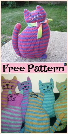 Super Cute Knit Window Cat – Free Patterns #freeknittingpattern #cat #giftidea
