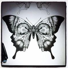 Occult Tattoo (Jon really wants to tattoo this today, at full. - Occult Tattoo (Jon really wants to tattoo this today, at full…) tattoos Occult Tattoo - Skull Butterfly Tattoo, Bird Hand Tattoo, Full Hand Tattoo, Butterfly Tattoo Designs, Full Sleeve Tattoos, Hand Tattoos, Body Art Tattoos, Tattoo Drawings, Tatoos
