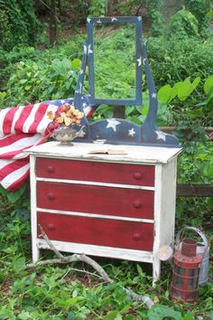 Old Glory Antique Dresser by junkdrawerdivas on Etsy. What a cute them for a nursery!