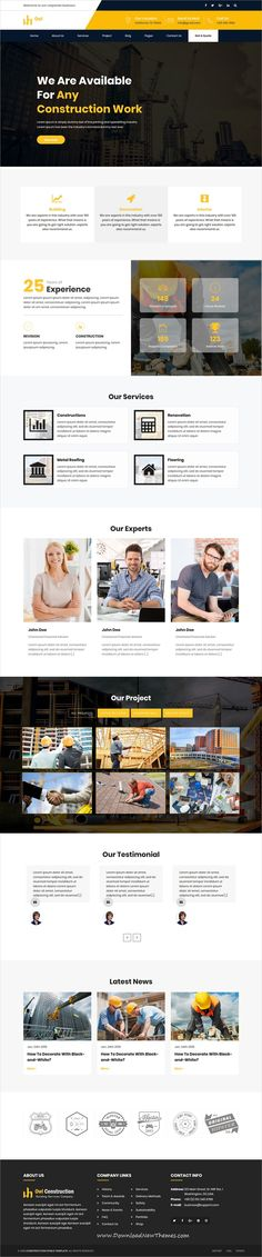 Owl is a clean and modern design 5in1 responsive bootstrap HTML #template for #architect and #construction company website to download & live preview click on image or Visit #webdesign