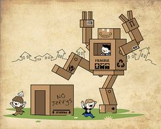 Cardboard conflict (Jeffy's revenge) by skinnyandy, via Flickr