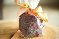 """""""Homemade Gift Idea: Cranberry Chews"""" — personally, I'd add lemon and lemon zest or orange and orange zest, but that's me."""