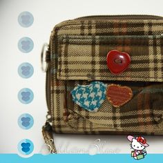 The PLAID cutie Cute bifold plaid wallet with darling heart detail. Gently worn. ‼️NO TRADE‼️ Bags