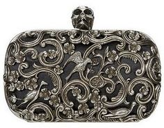 Alexander McQueen skull clutch.  No knuckle duster, but this is ridiculously fabulous!