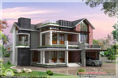 Modern contemporary home elevation