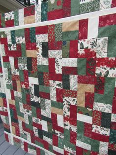KayakQuilting: A Christmas Quilt Top Finish