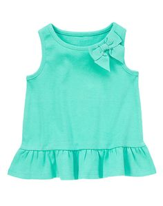 Bow Peplum Tank at Gymboree Collection Name: Safari Smiles Toddler Outfits, Kids Outfits, Kids Frocks, Carters Baby, Shirts For Girls, Girl Fashion, Clothes, Baby Style, Puppet