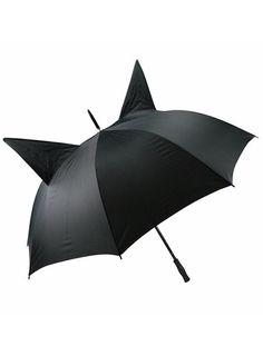 Cat Ears Parasol Punk Rock Goth Umbrella Burlesque Cosplay