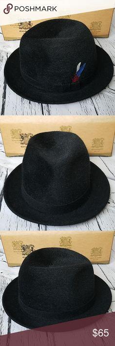 141603935aa VINTAGE Black CHAMP Men s Fedora Hat Beautiful Vintage Felt Fedora Hat.  Marked