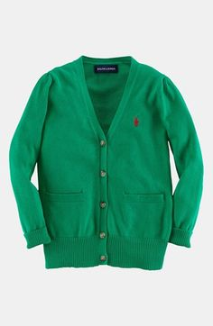 Ralph Lauren Pima Cotton Cardigan (Toddler Girls) available at #Nordstrom