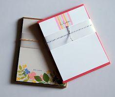 My Paper Secret: Stationery sets, would also make good notecard sets