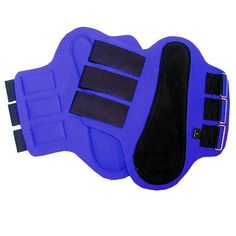 INTREPID INTERNATIONAL SPLINT BOOTS WITH BLACK PATCHES - Neoprene #SplintBoots with #Blackpadded suede overlay and three reverse grip touch tape straps. Offers good protection to the inside of the horse's leg. Black binding along edging. Easy to use, easy to care for.