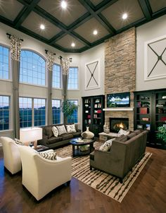 33 Modern Living Room Design IdeasFireplaces Design and Window