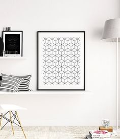 Cube Print, Geometric Wall Art, Minimalist Black and White Poster, Black and White Scandinavian Nordic Decor, Abstract Digital Printable Art  ◆ INSTANT DOWNLOAD Please note, this is a digital product, saving you delivery time and shipping costs. No physical product will be shipped. Frame and background are not included.  ◆ FILES & SIZES All files are high resolution (300 dpi) ensuring best quality when printed. Includes the most popular sizes and a large jpg file that you can resize to fi...