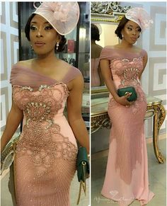 Old-School meets New School Glamour😍.love this look! Now who has a body that I can borrow so I rock this dress? African Lace Styles, African Lace Dresses, Latest African Fashion Dresses, African Wedding Attire, African Attire, African Traditional Wedding Dress, Dinner Gowns, Best Party Dresses, Lace Dress Styles