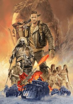 """kogaionon: """" Mad Max: Fury Road cover illustration for Eiga Hiho by Tsuyoshi Nagano """" Mad Max Fury Road, Classic Movie Posters, Movie Poster Art, Illustrations, Illustration Art, Illustration Pictures, Movies And Series, The Lone Ranger, Pop Culture Art"""