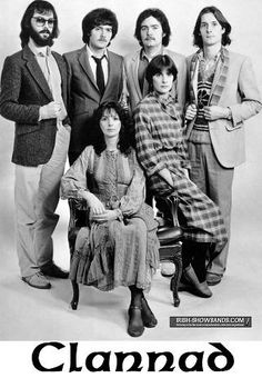 "Irish Band Clannad in 1982 with Enya . Clannad, from the Donegal Gaelic ,an abbreviation of ""an clann as Dobhar,"" meaning ""a family from the town land of Dore"" . New Age Music, Her Music, Music Love, Music Songs, Celtic Music, Donegal, Types Of Music, My Favorite Music, Everything"
