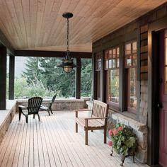 Home Interior Salas .Home Interior Salas Design Rustique, Rustic Design, Rustic Style, Outdoor Ceiling Lights, Outdoor Lighting, Lighting Ideas, Pergola Lighting, Building A Porch, Building A House