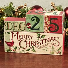 Countdown to Christmas Wooden Block Set