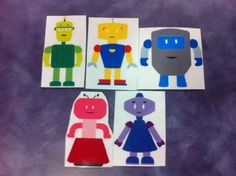 What Happens In Storytime...: Flannel Friday - Five Little Robots