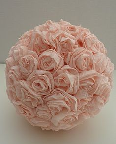 crepe paper kissing ball