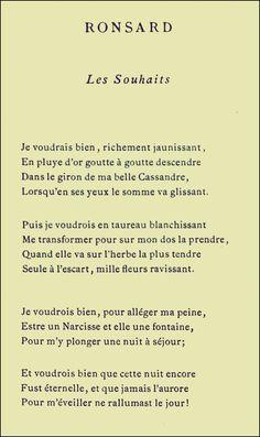 Ronsard - Les Souhai