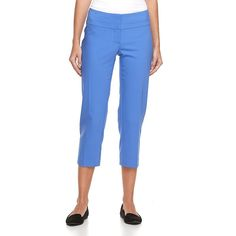 Women's Apt. 9® Torie Modern Fit Capri Dress Pants, Size: 4, Blue (Navy)