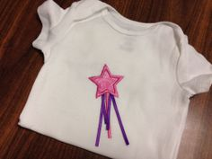 Magic Wand applique Colors can be customized $15 shirt $10 doll shirt