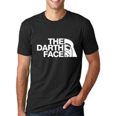 9efb3dce9 Fashion 2017 Summer Men's Casual Star Wars T-Shirt The Darth Face Print T  Shirt Short Sleeve O-Neck Streetwear Tees Hip Hop Tops