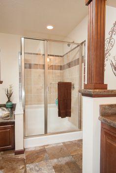 Bellevue AU208A - Aurora Classic Ranch Modular - Ceramic Tile Walk in Shower