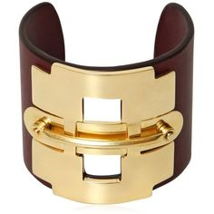 Tod's Women Leather And Metal Horse Bit Bracelet (18,680 MKD) ❤ liked on Polyvore featuring jewelry, bracelets, cuff, leather, nakit, bordeaux, cuff jewelry, leather jewelry, metal jewelry and horse bit jewelry