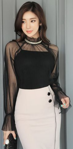 Waist skirt, high waisted skirt, casual skirt outfits, clothes for women, skirts Asian Fashion, Girl Fashion, Fashion Dresses, Womens Fashion, Fashion Design, Fashion Trends, Ladies Fashion, Fashion Ideas, Casual Skirt Outfits