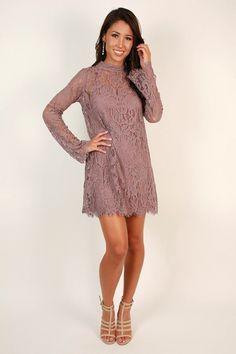Walk My Way Lace Dress in Heirloom Lilac