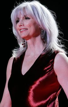 Emmylou Harris - love her, love her hair    See more hairstyles for Women over 45 http://stillblondeafteralltheseyears.com/category/hairstyles-for-women-over-45/   #Hairstyles #HairstylesWomenover45 #Womenover45