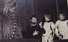 Star Wars Set Photos: Peter Mayhew, George Lucas, Harrison Ford and Mark Hamill