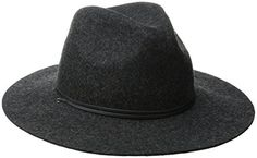 d440fcd31a1 Coal Women s The Lee Wool Felt Wide-Brim Fedora Hat with Leather Cord