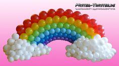 How to make a balloon rainbow. Anleitung um einen Regenbogen aus Ballons zu gestalten. http://mister-twister.de