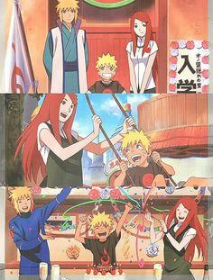 Minato,Naruto e Kushina
