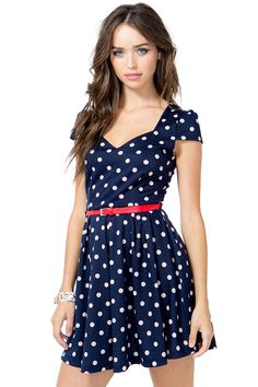 Dressy days are here again! A short textured flare dress featuring an allover floral print and a v-neck. Cap sleeves. Belt loops at the waist with a skinny leatherette belt. Finished hem. Knit. $28.50