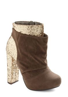 Gilt to Thrill Bootie, #ModCloth