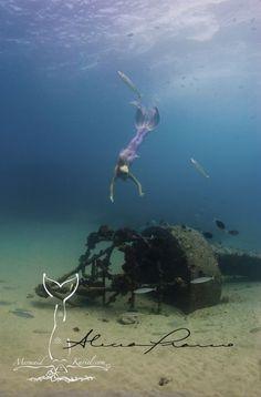 mermaid and ship wreck