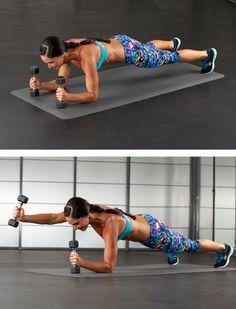 Low Plank Front Raise with Lori Harder | Oxygen Magazine