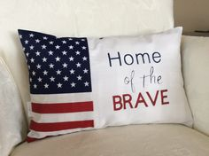 A personal favorite from my Etsy shop https://www.etsy.com/listing/600563257/patriotic-pillow-flag-pillow-home-of-the