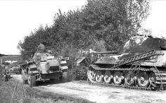 Tiger II tank with Porsche turret of the schwere Panzer Abteilung 503. Normandy France 1944
