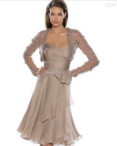 !New 2014 Newest Design Chiffon Long Sleeves Evening Mother of the Bride Dress…